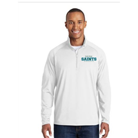 Men's White Quarter Zip