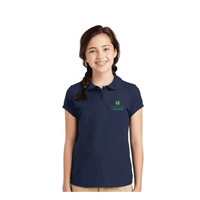 Girls Embroidered Chapel Polo